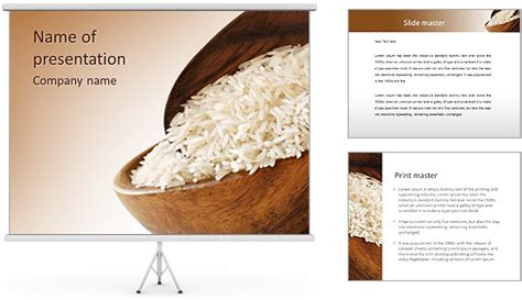 powerpoint themes rice rice dish powerpoint template backgrounds id 0000004263