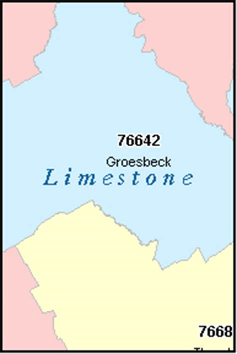 limestone county texas map limestone county texas digital zip code map