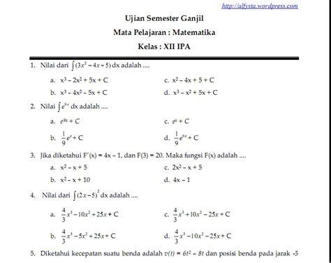 Mengefrais Kompleks Untuk Kelas Xii Semester 1 Dan 2 Smk U109 Soal Ujian Semester Ganjil Kelas Xii Ipa Pelajaran
