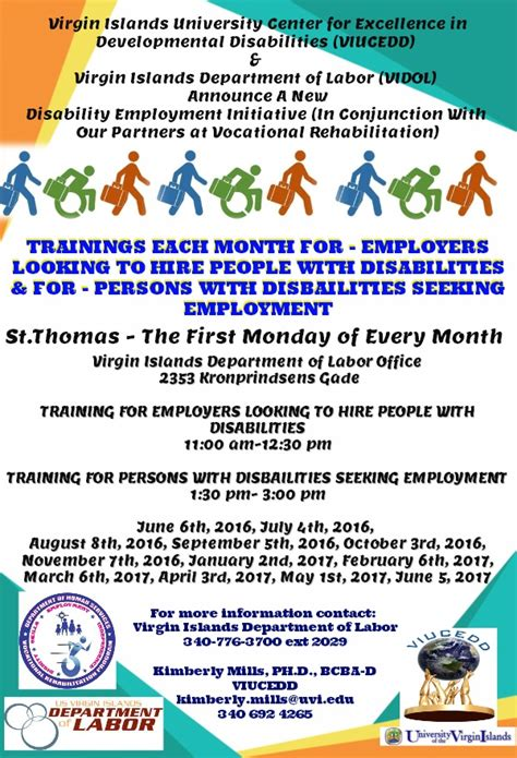 viucedd disability employment project stt
