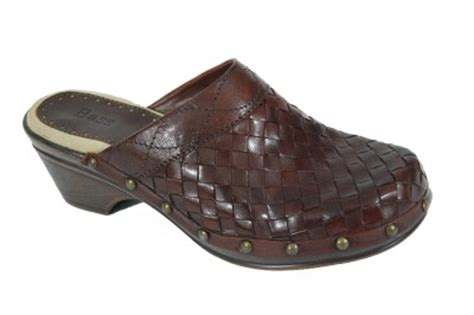 bass clogs for womens new bass womens jillian brown luggage woven leather clogs