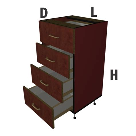 4 drawer melamine base unit board express