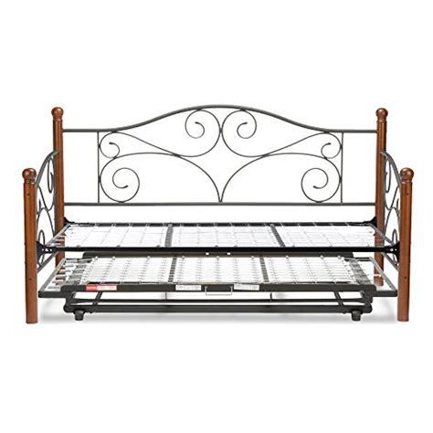 Metal Trundle Bed Frame Pop Up Doral Complete Metal Daybed With Link And Trundle Bed Pop Up Frame Matte Black Finish