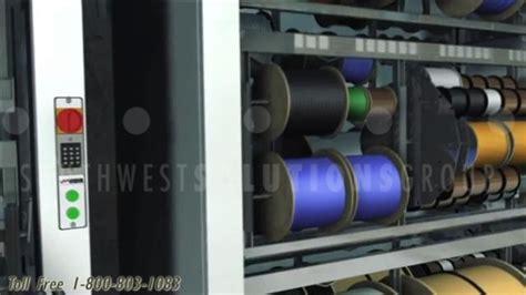 motorized wire spool storage carousels electrical