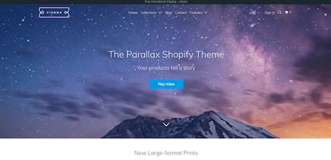 shopify themes parallax 59 premium shopify themes to make your online store pop