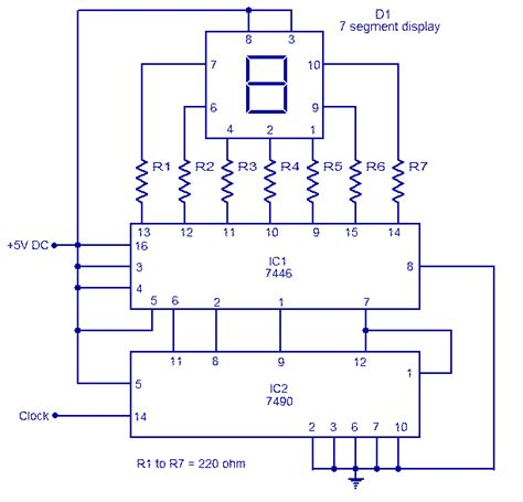 7490 ic pin diagram help on decade counter