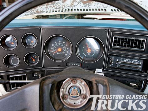 electric power steering 1979 chevrolet luv instrument cluster 1973 1987 chevy c10 gmc truck dakota digital gauge cluster install hot rod network