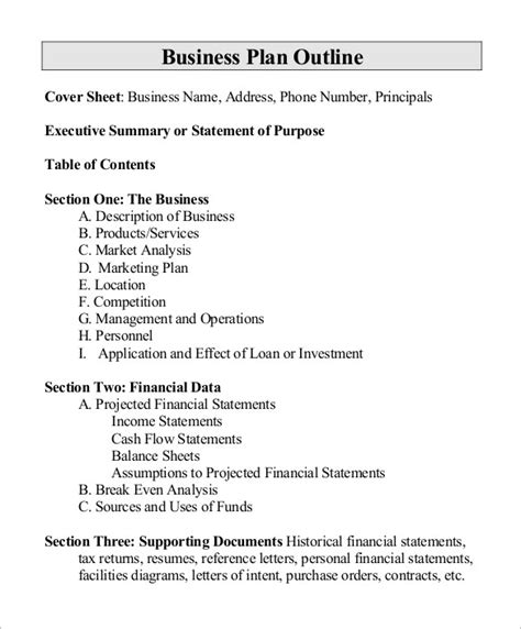 Business Outline Template 17 Proposal Outline Templates Doc Pdf Free Premium Templates