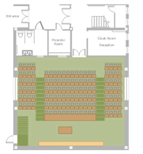 lecture hall floor plan building drawing software for design seating plan
