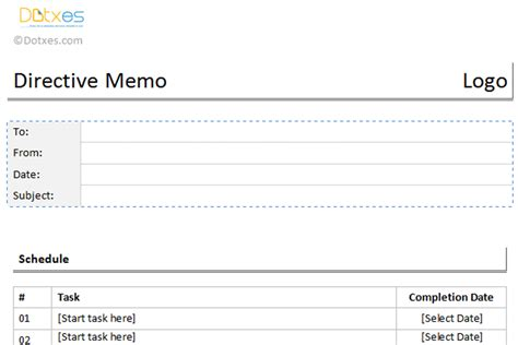 directive template memo templates dotxes