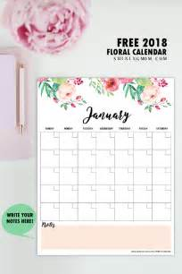 Calendar 2018 Monthly Planner Free Printable 2018 Monthly Calendar And Planner