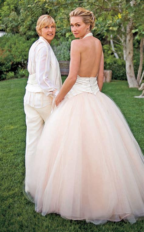 Portia De Wedding Gown by Portia De Degeneres From Brides In Pink