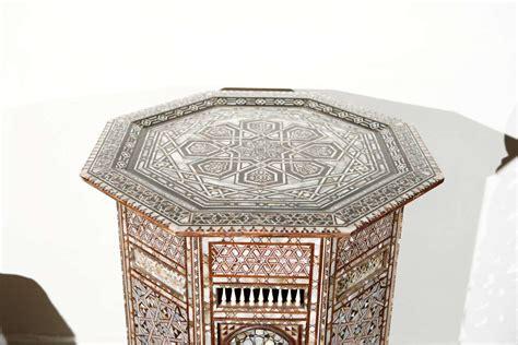 Ottoman Mosaic 19th century moorish ottoman mosaic syrian work pedestal