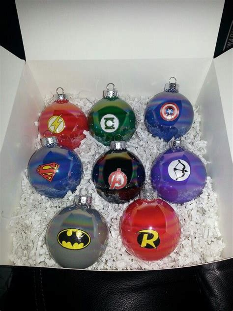 my diy superhero ornaments flash green lantern captain