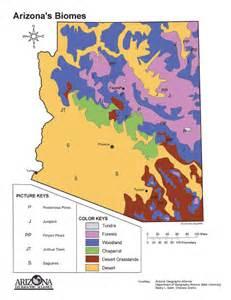 arizona geographic alliance maps biomes map of arizona images