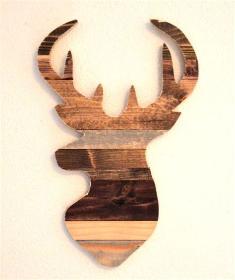 home interior deer picture deer silhouette wood slats and rustic homes on pinterest