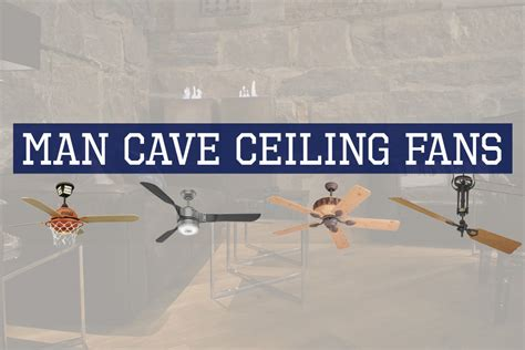 man cave ceiling fans 7 rustic industrial ceiling fans with cage lights you ll