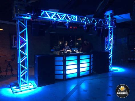 dj cabin dj cabine front treli 231 a cdj technics moving pronta
