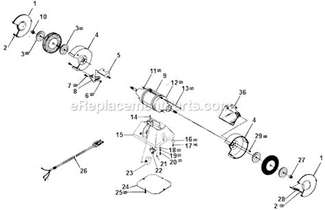 delta bench grinder parts delta 1049 parts list and diagram type 1