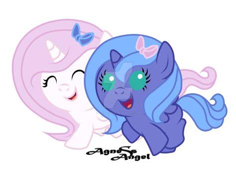 my little pony princess luna and celestia babies baby celestia and luna by agnessangel on deviantart