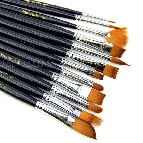 Akrilik Brush by 12x Artist Paint Brush Set Hair Watercolor Acrylic