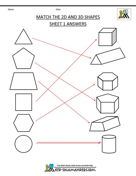 3d geometry worksheets for grade 1 homeshealth info