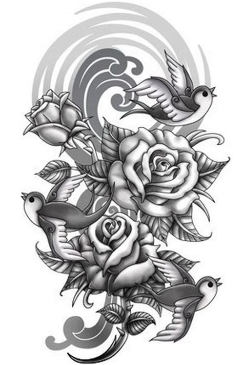 tattoo background designs for sleeves sparrow half sleeve sleeve tattoos