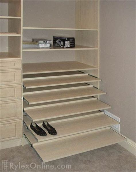 Sliding Closet Shelves sliding shoe shelves orange county ny rylex custom