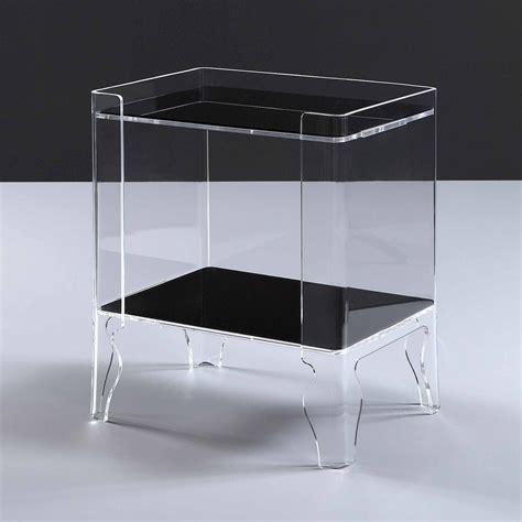 comodini design moderno comodino design moderno plexiglass trasparente naif 1