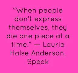 Speak By Laurie Halse Essay by Quotes By Laurie Halse Like Success