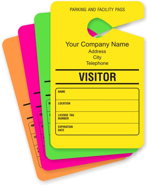 visitor pass template free visitor parking passes guests parking passes