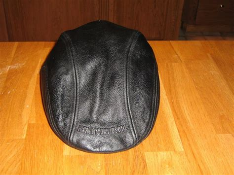 Harley Davidson Hats For Sale by New Harley Vintage Black Leather Newsboy Hat Cap