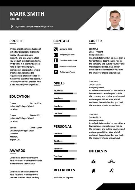 cv template designs resume layout font creative eye catching