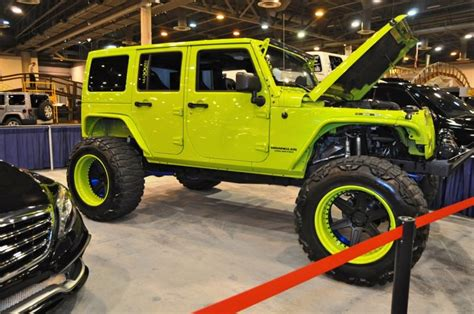 acid yellow jeep black and yellow jeep wrangler road wheels