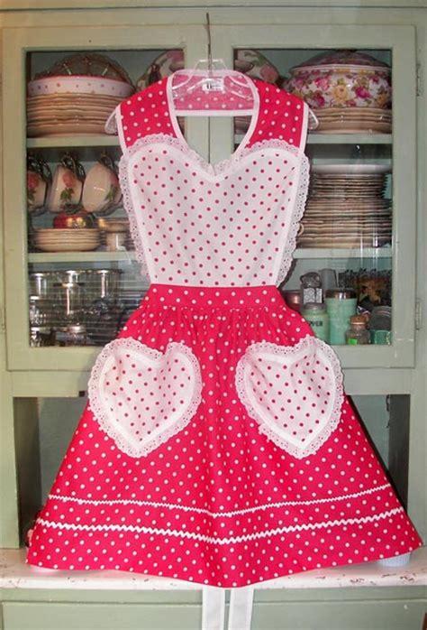 heart pattern apron valentine heart apron