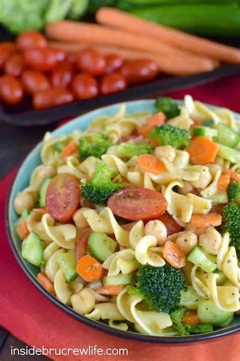 pasta salad vegetarian veggie pasta salad