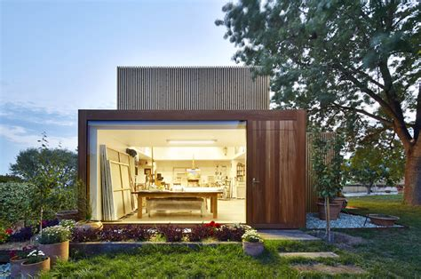backyard art studio plans this backyard art studio has a garden view contemporist