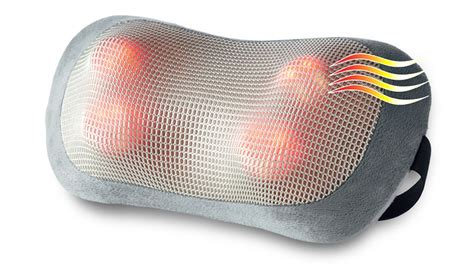 Heated Pillow by Heated Shiatsu Pillow With Controller