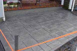 Stamped Concrete Over Existing Patio by Hardscapes Patios Walks Stamped Concrete Cape Cod Lawn