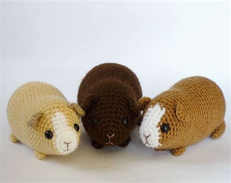 pattern crochet guinea pig crocheted chubby guinea pig made to order