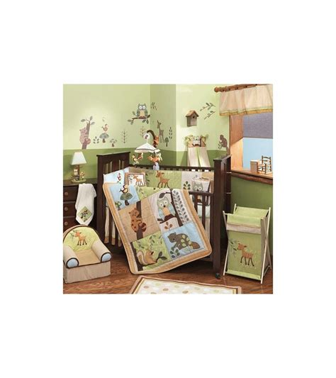 forest crib bedding lambs enchanted forest 5 baby crib bedding set