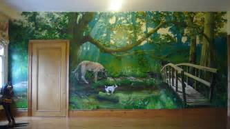 Mural Wall Paintings trompe l oeil and mural