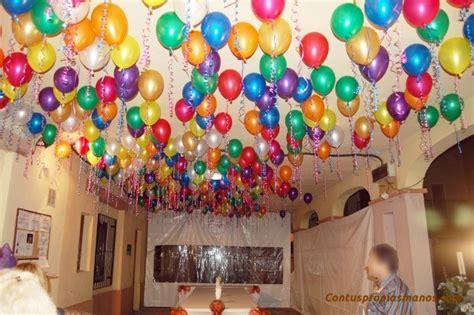 como decorar con globos el techo decorar tu fiesta de cumplea 241 os con tus propias manos