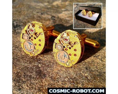 handcrafted brass steunk cufflinks steunk jewellery