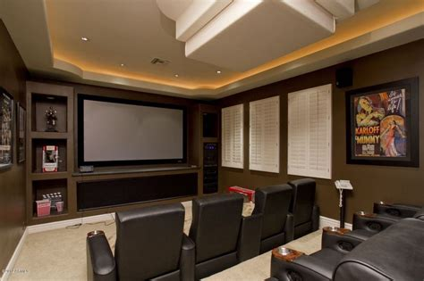 modern home theater modern home theater with cove lighting built in