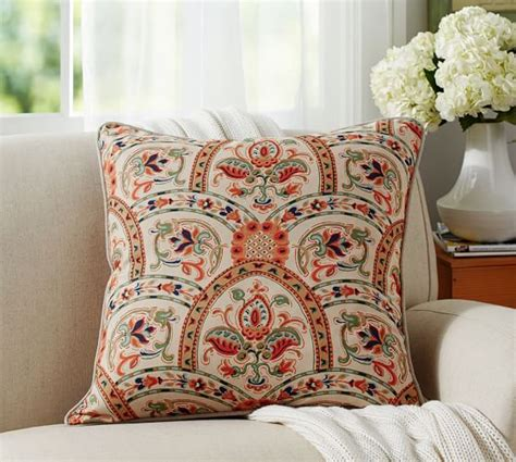 pottery barn bed pillows harland print pillow cover pottery barn