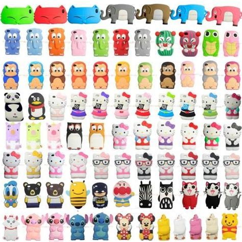 Softcase 3d Original Apple Iphone 4g 4s Original 3d animals silicon soft cover for apple