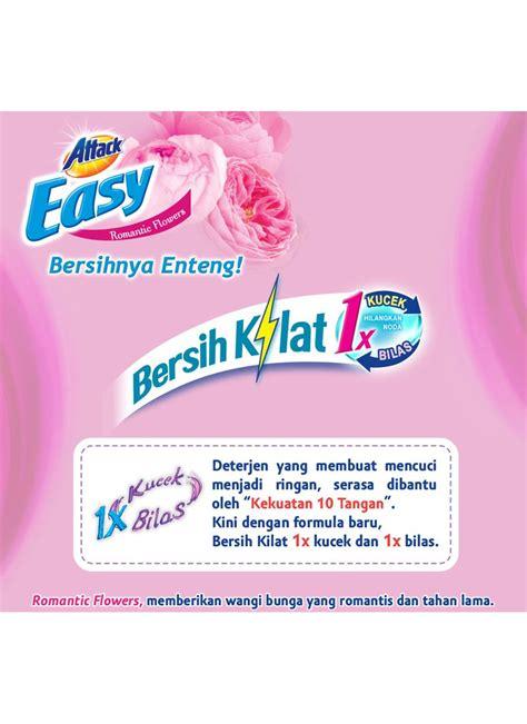 Attack Easy Jumbo 1 2kg kao attack detergent powder easy flower bag 1 2