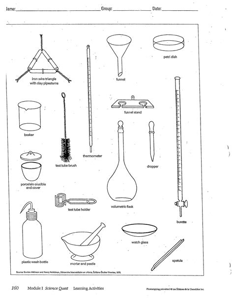 Lab Equipment Worksheet by Quiz Lab Safety And Lab Equipment Westmount High School
