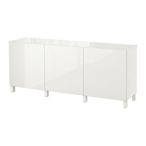 ikea besta white gloss best 197 storage combination with doors white selsviken high gloss white ikea
